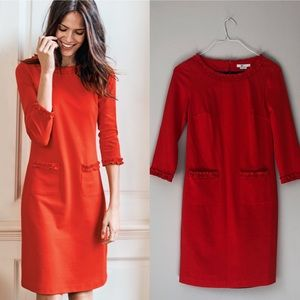 Boden: Orange Smart Day Dress
